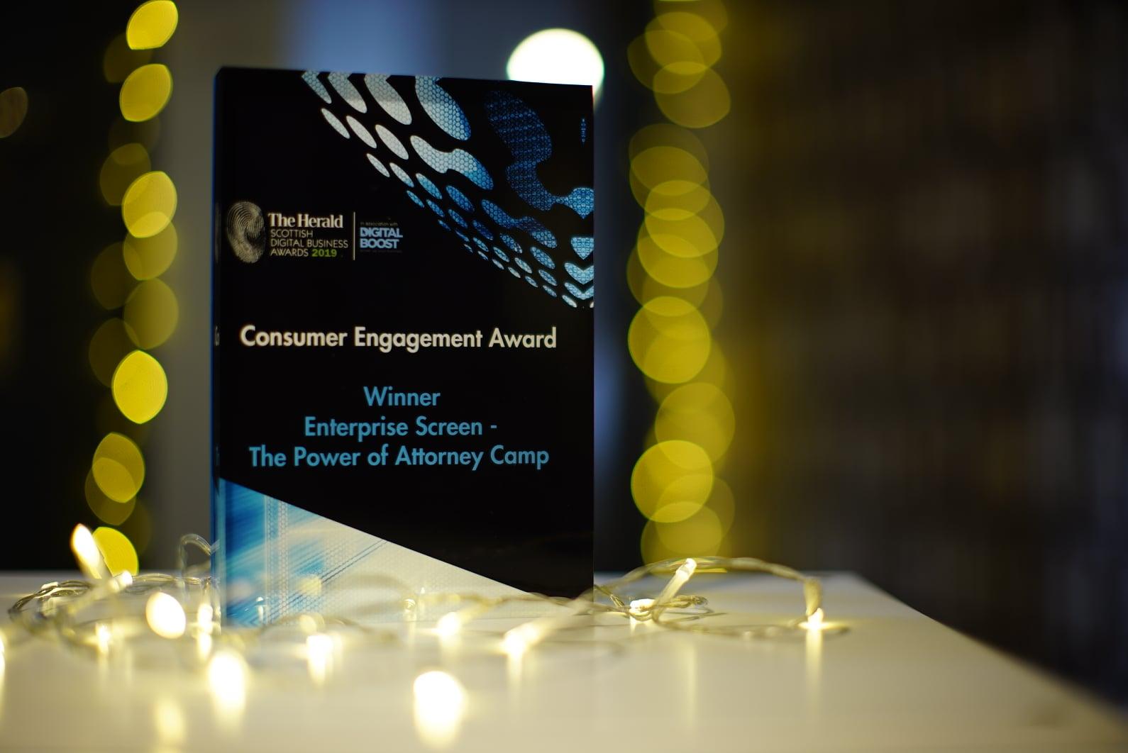Award winning digital agency! Enterprise Screen!